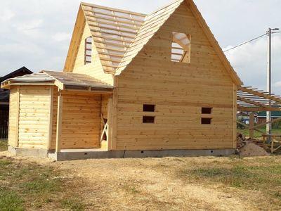 Строительство домов,  бань,  беседок из проф. бруса. Пинск - main